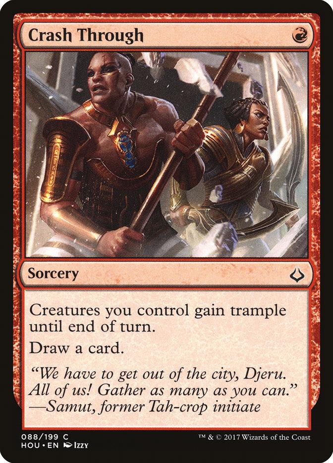 Crash Through | Red cards | MTG Arena Pro