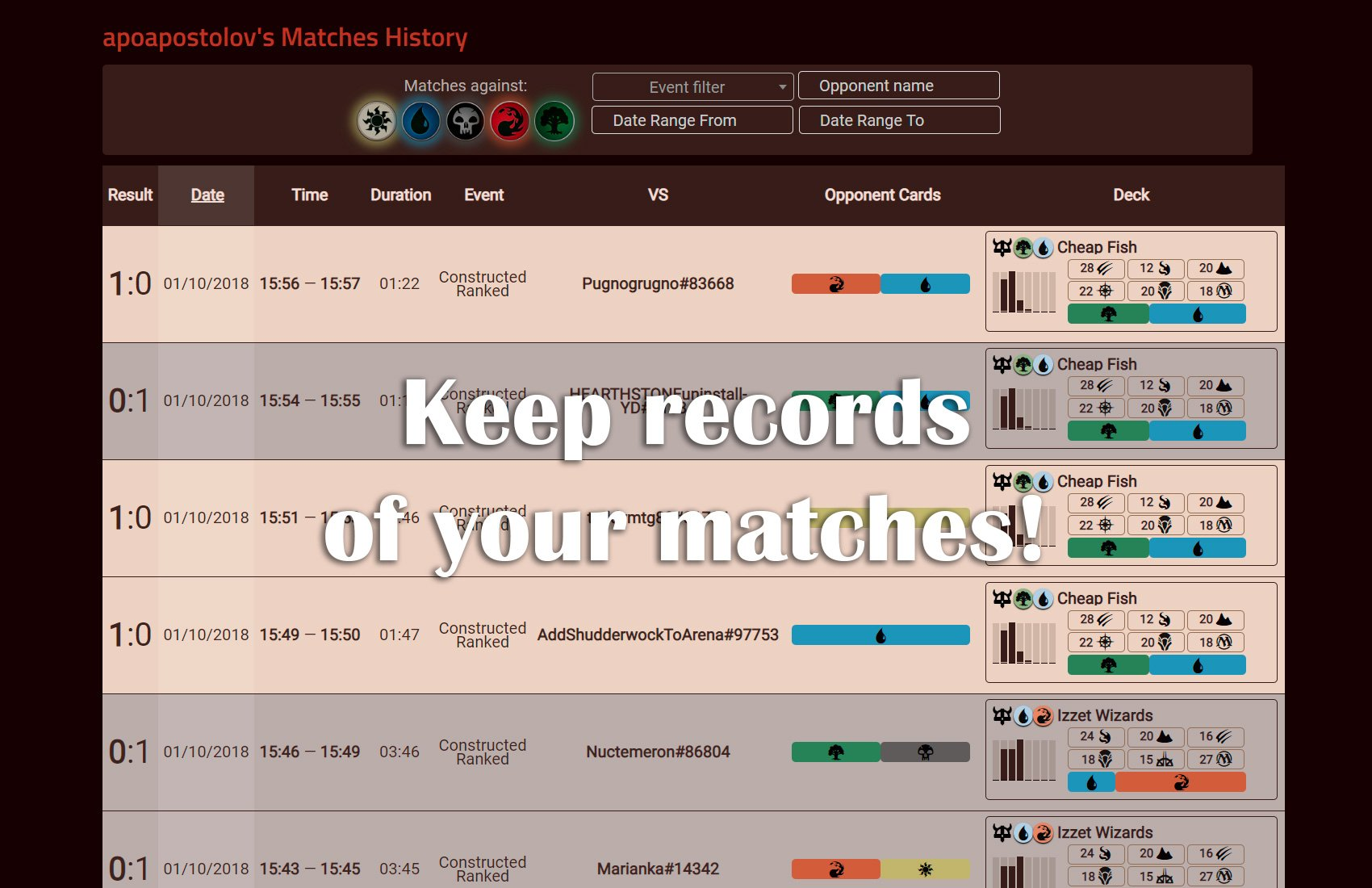 MTGA Pro Tracker: track matches, draft, wins, progress